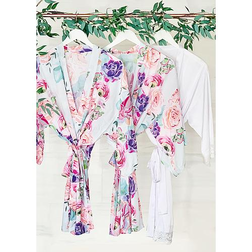 Personalized Succulent Cotton Robes